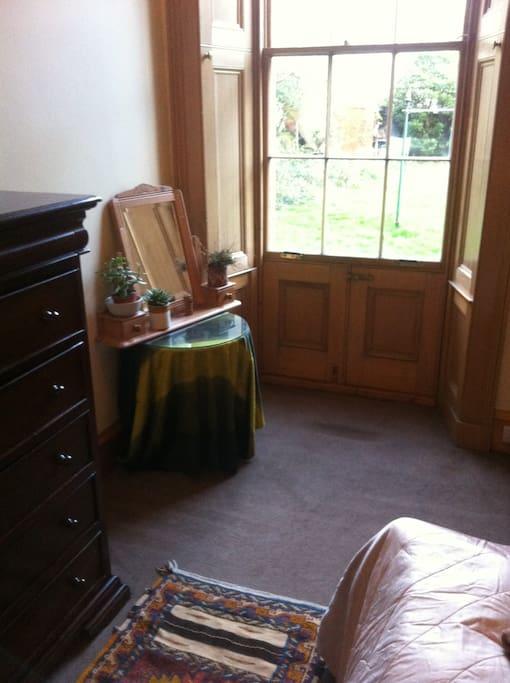 Bedroom/garden window/door