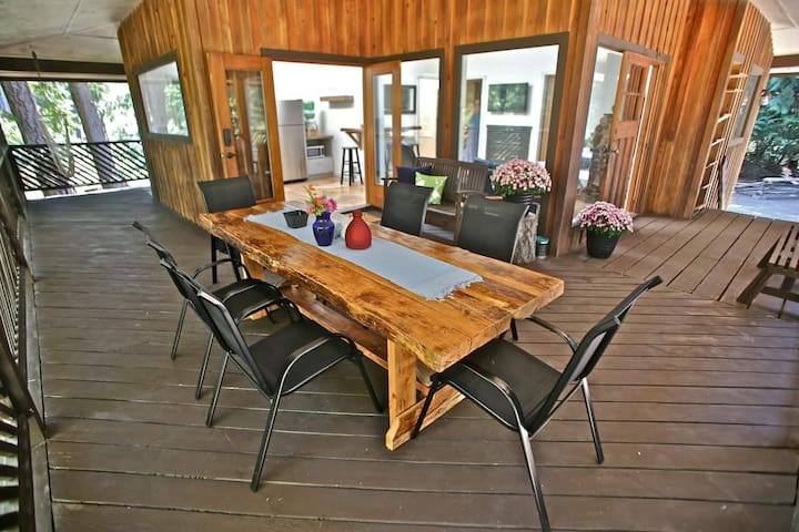 Outdoor dinning table.