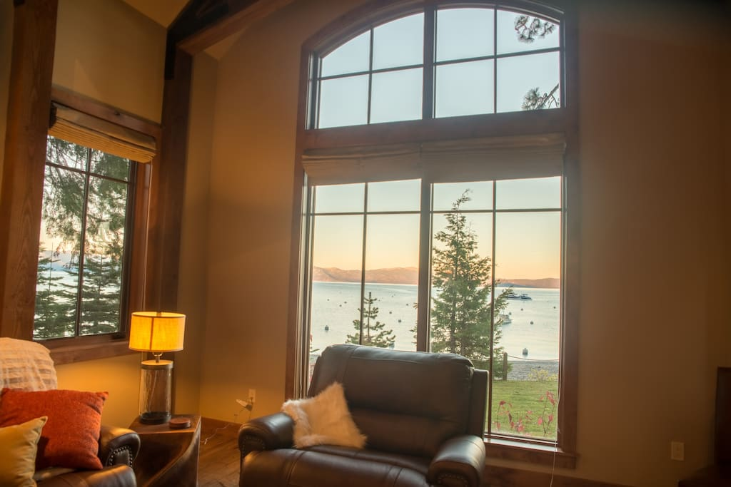 View of the lake from the living room