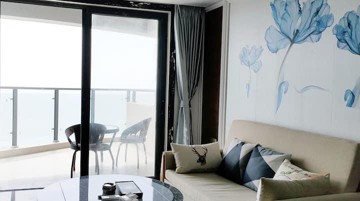 【蓝色海景公寓】海尚海花园高层观日出海景公寓