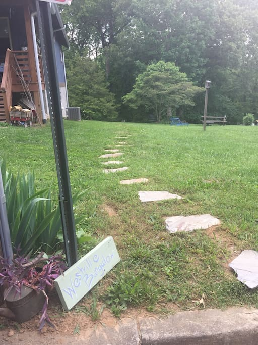 Stone pathway that leads to your vacation home