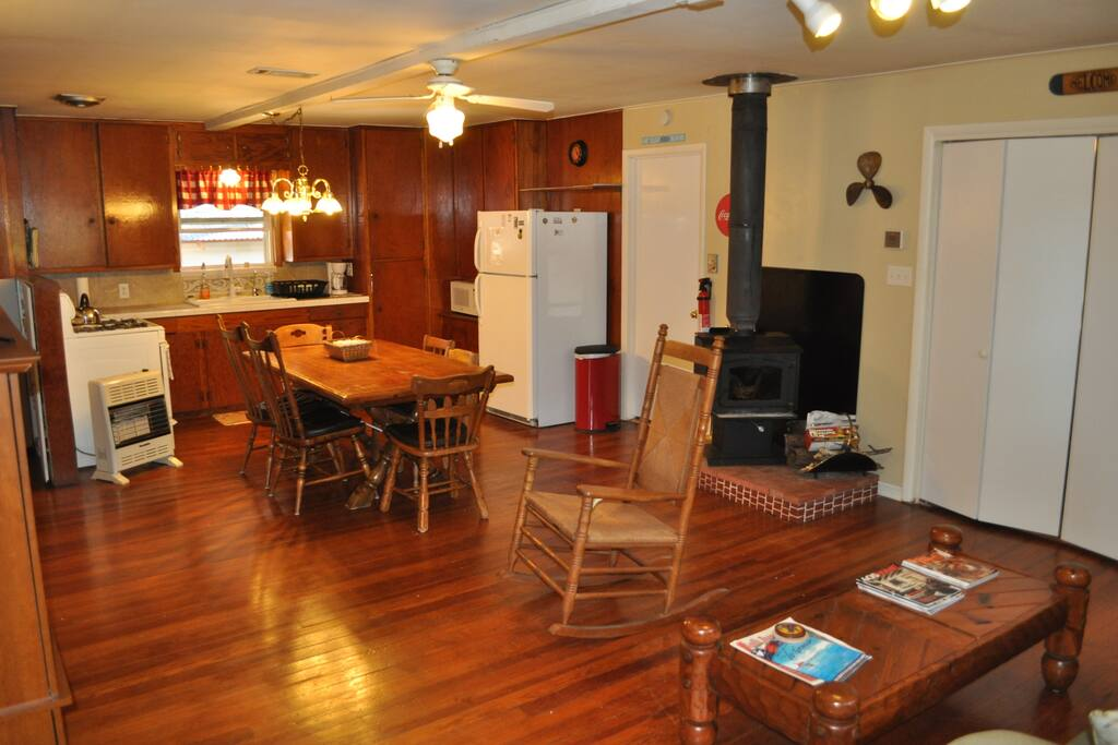 Open concept living/ dining area for convenient family gatherings.
