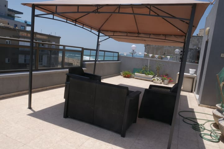Beach Front Studio with Terrace