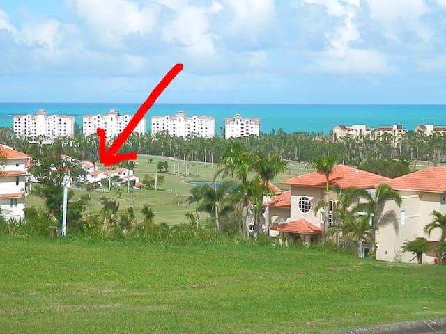 Caribbean golf villa at Wyndham oceanfront resort