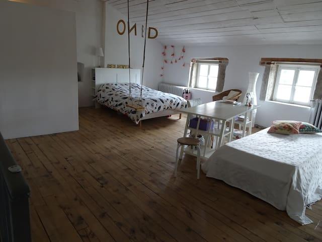 Idéal, chambre de 50 m2 ! - Villars - Şehir evi