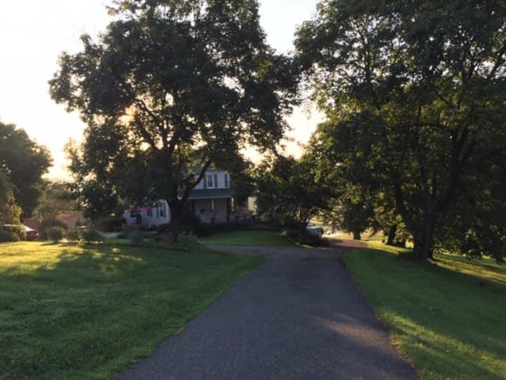 Rural rooms in a comfortable quiet farmhouse