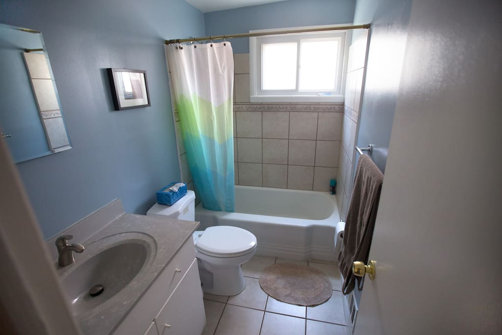 Bathroom, about 5 feet down the hall (shared )