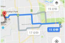 Just west north 8.4km to Adelaide Airport  If you need to pick up from the Airport, the pick up service cost is 20 AUD.
