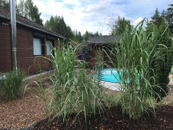Hambühren Märchenwald Haus, Pool, Sauna, Waldrand