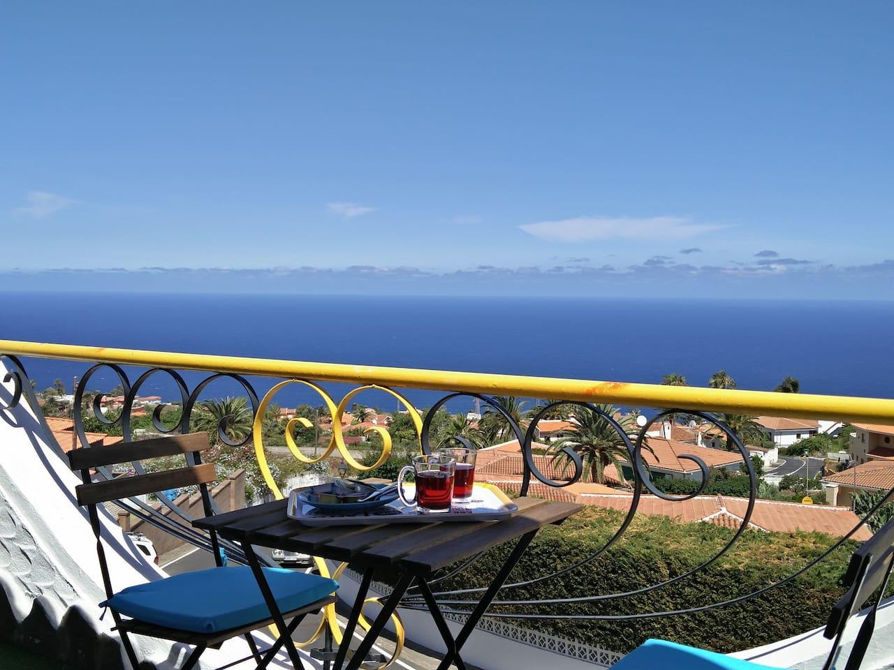 Agradable terraza con vistas