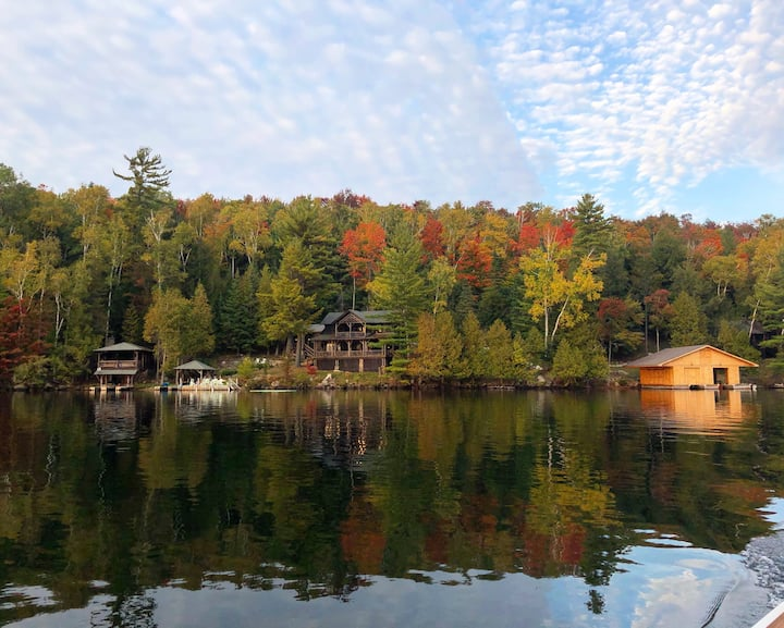 Original Adirondack Camp on Blue Mt. Lake