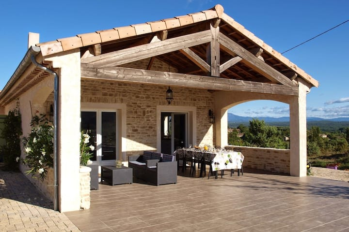 Lavish house in Ardeche with shared pool