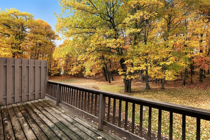 Comfortable 3-level condo w/ deck & gas fireplace - close to Dollar Lake!