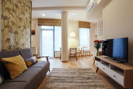 Yellow studio in the heart of Druskininkai - Druskininkai - Apartment
