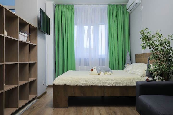 Теплая и уютная квартира с панорамным видом
