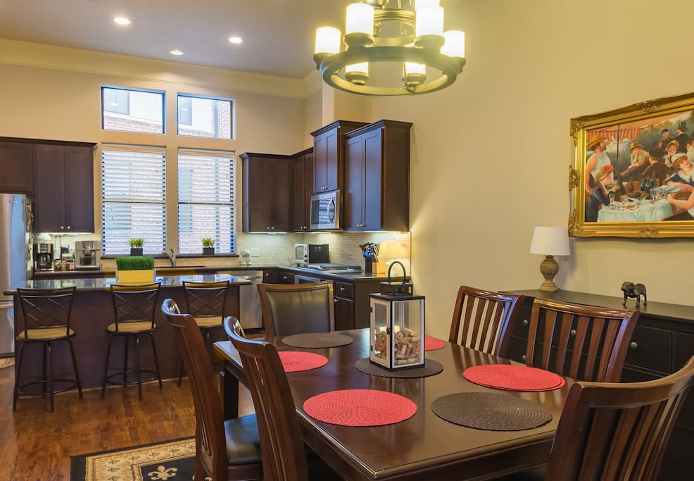 Spacious yet cozy Dining Room and Kitchen Area (2nd Floor)