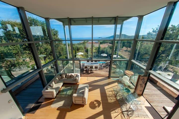 Villa d'architecte  piscine chauffee l ile rousse