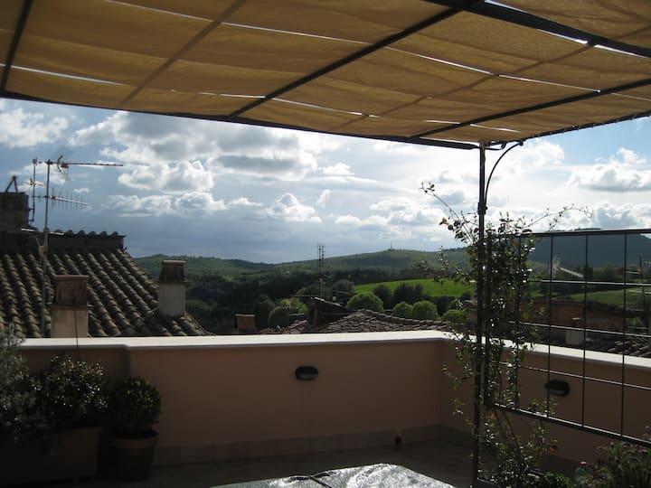 the terrace of Luciana near Vulci spa