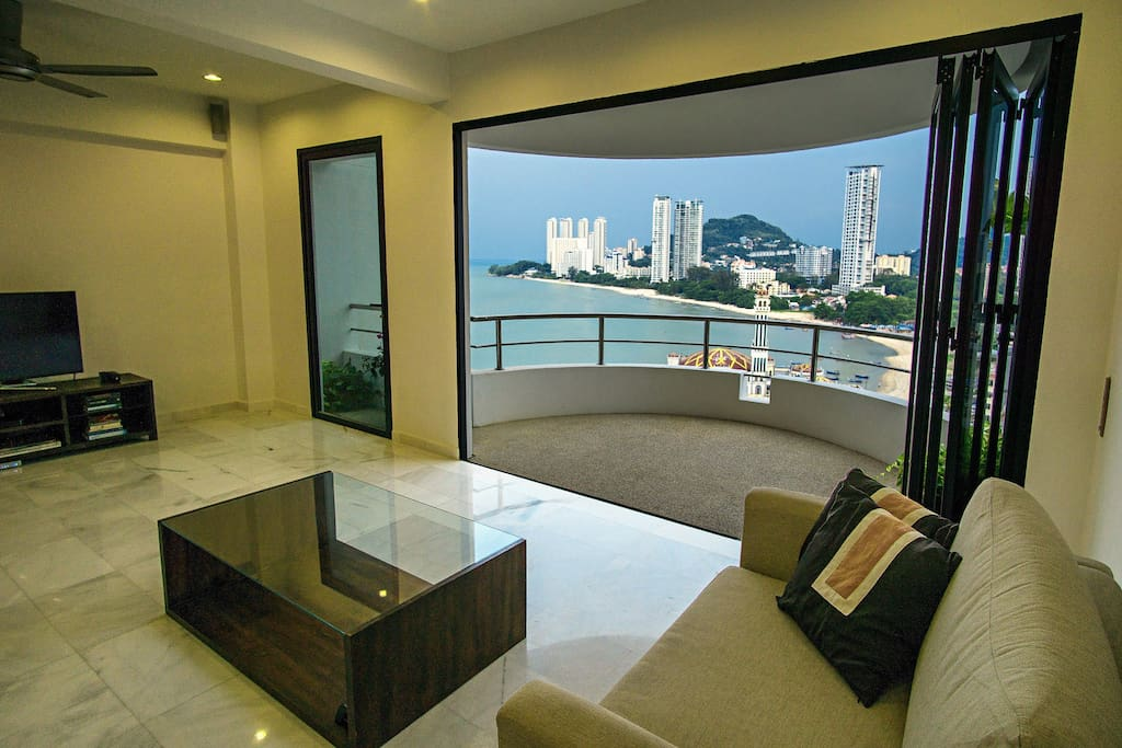 Living area with outdoor view