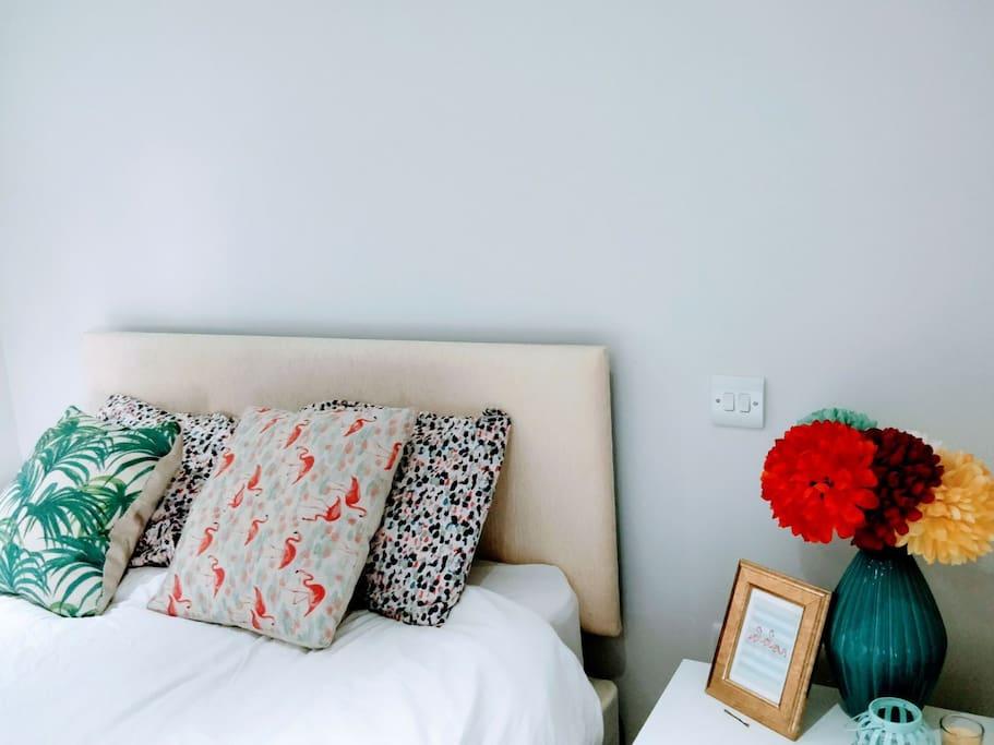 Corner Table in Bedroom