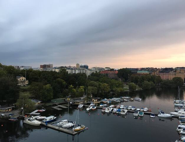 Picture taken from the bridge Västerbron