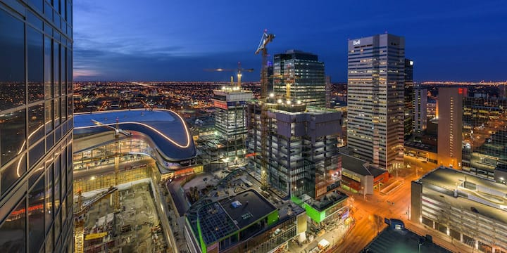 Amazing View! High Rise Condo above Rogers Place