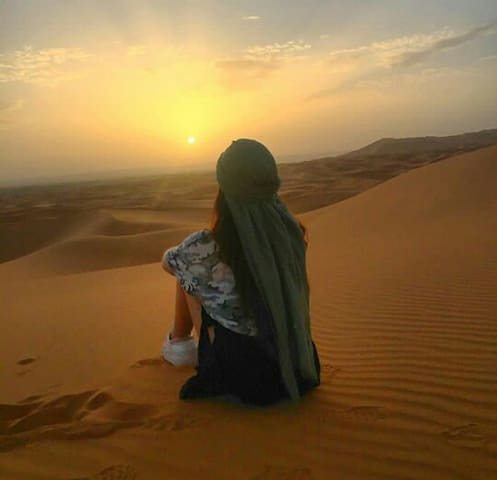 How amazing to watch the sunset on the Erg Chebbi dunes
