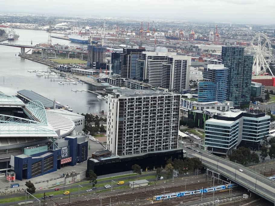Melbourne Star & Docklands Waterfront view from Balcony