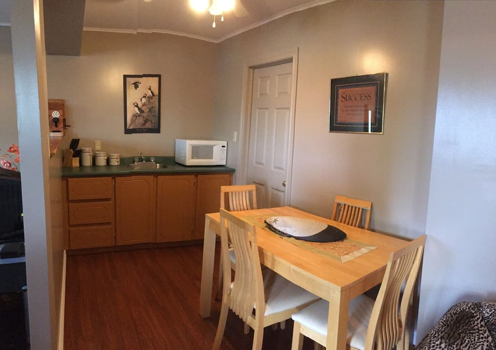 Dining and kitchen area.