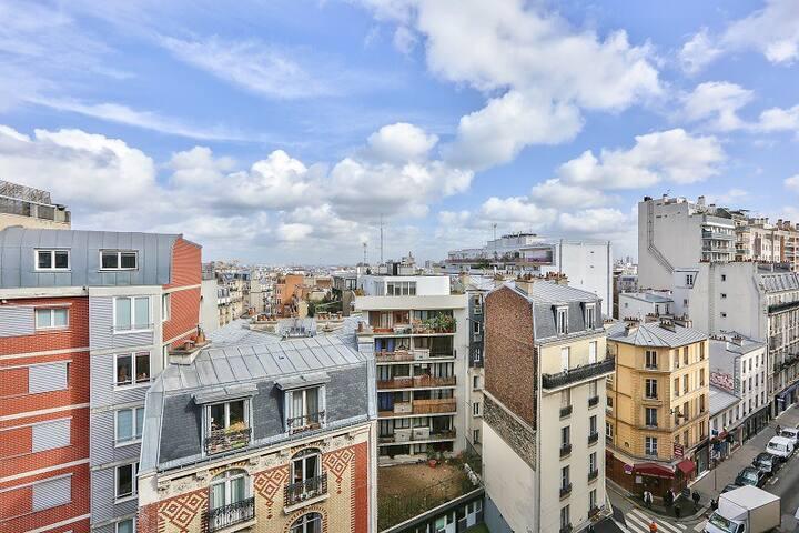 Damrémont/Marcadet: studio avec vue imprenable