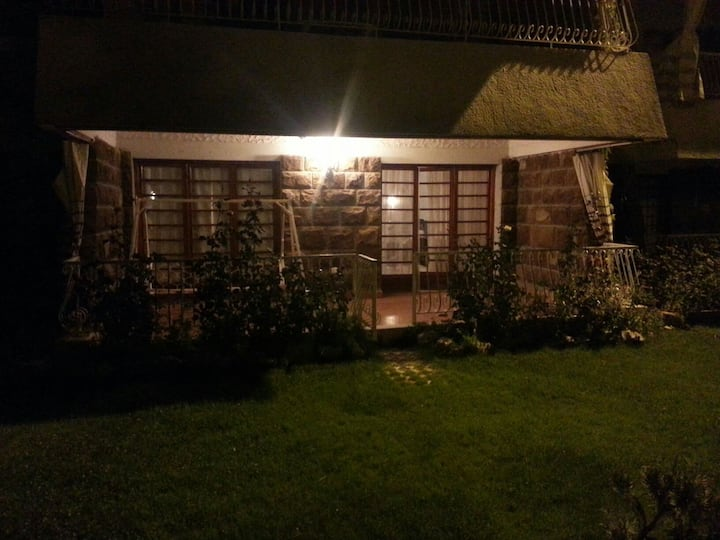 Chalet with special garden Satelity