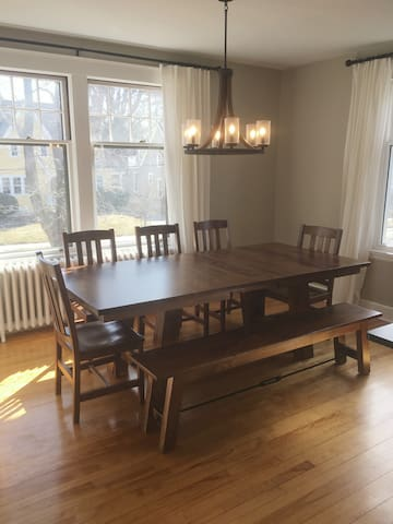 Dining room table extended