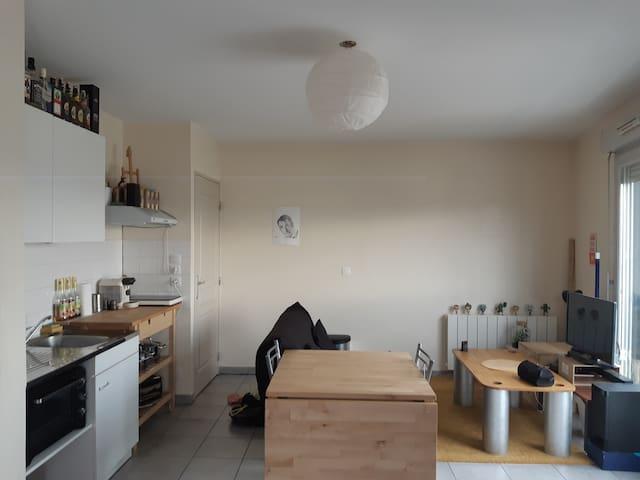 Studio Séduisant 40m²+Garage+Ventilateur