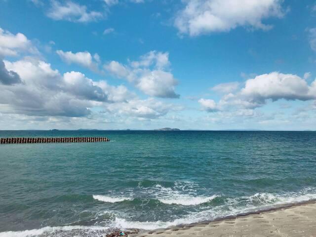 瀬戸内芸術祭 伊吹島が見えます。