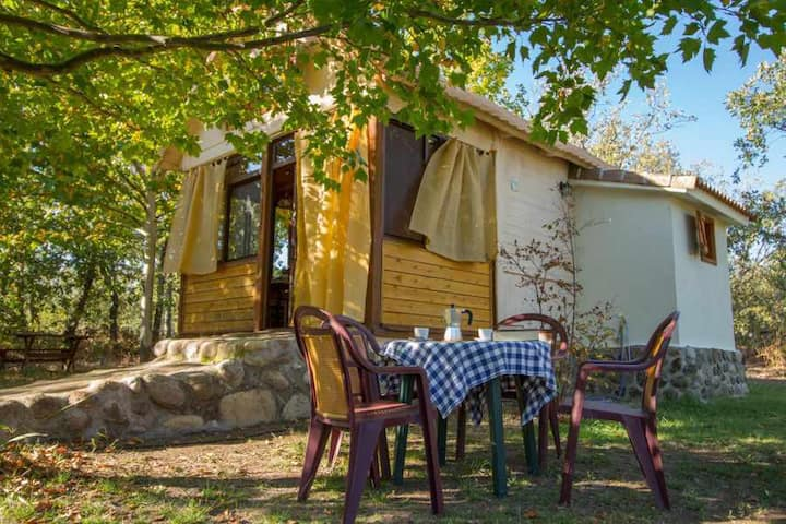 Open country timber cabin ideal for two people.