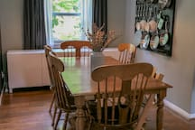 Dining room—seats 6, highchair available