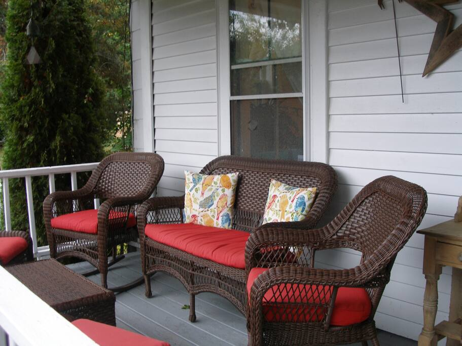 Side porch seating