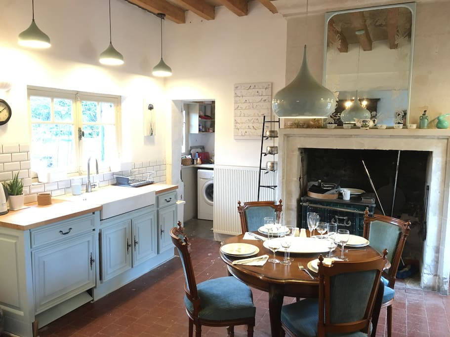 Well equipped kitchen/dining room with access to rear garden and al fresco dining.