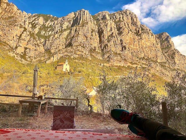 El refugio de Montserrat. Parc Natural Montserrat