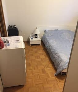 Suite do apartamento e muito acolhedor