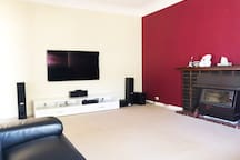 "Lounge 65"" 4K TV Foxtel HD Platinum (every channel, all sports, movies, docos,)"