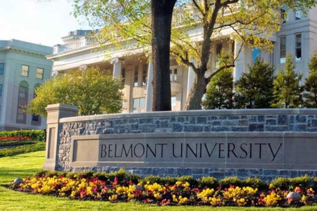 Apartment in located on Belmont's campus!