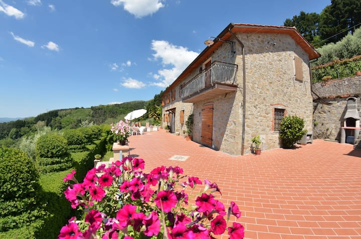 Mansion with magnificent views, perfect for families travelling with pets, private pool