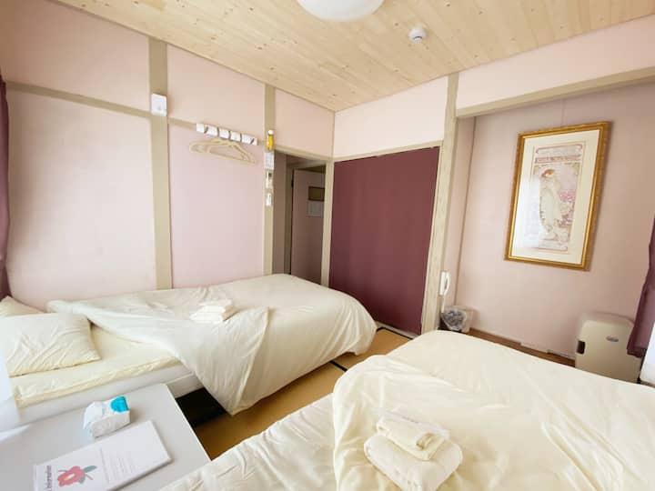 ★TSUBAKI★Nagoya Castle★50min to airport★HouseWiFi★