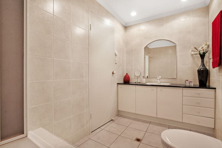 Large Guest Bathroom Two equipped with bath