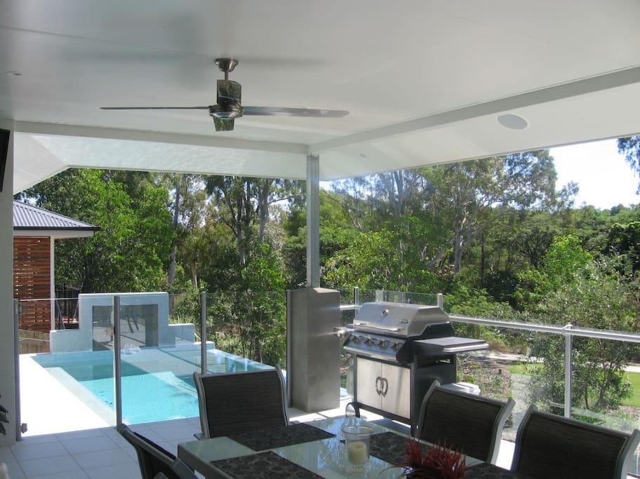 Back deck near pool area