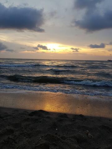 Estancia frente al mar