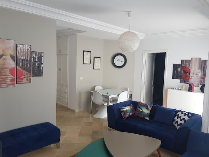 Appartement S+2 en plein coeur de la Marsa Plage
