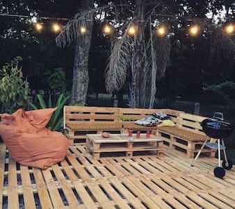 Beau T2 cosy avec jardin et piscine - Remire Montjoly
