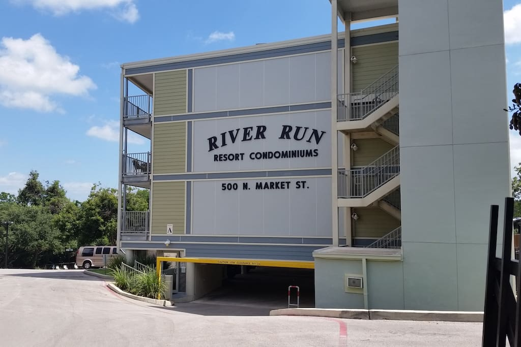 Our condos are located on the Comal River next door to Texas Tubes and across the street from Landa River Trips